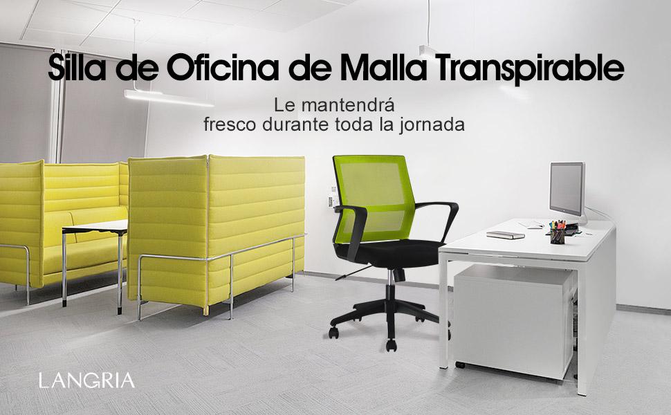 Langria silla giratoria de escritorio hogar for Silla escritorio comoda