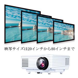 DBPOWER ミニLEDプロジェクター ホームシネマ 1080PフルHD 解像度:800*480 120lm AV/VGA/HDMI/USB対応できる リモコン付き ホワイト