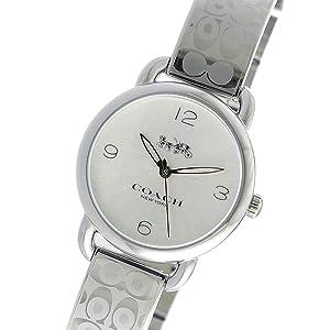 7a3b157f99c4 Amazon   [コーチ] COACH 腕時計 デランシー クオーツ 14502891 シルバー ...