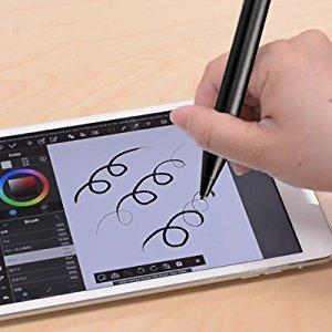 機能が多いペン: 基本的な画面スクロールやタップはもちろん、メモ、お絵描き、デッサンを練習する、ゲームなどにも対応できるので、1本のペン で幅広く使用できます。