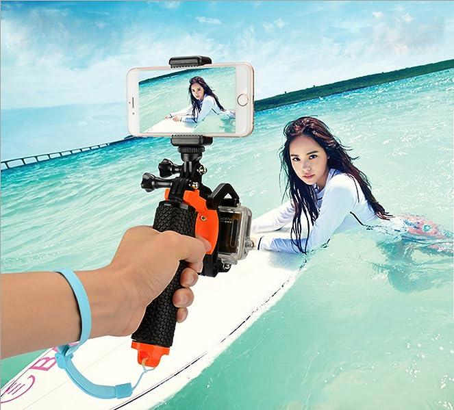 Sinvitron GoPro対応アクセサり フローティング スティック 防水デザイン 一脚グリップ カメラグリップ Gopro xiaoyi SJCAMなどのカメラ対応 浮力スポンジ 水中撮影機材