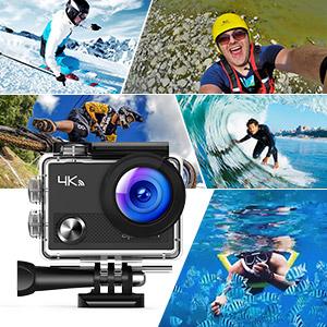 Amazon | APEMAN アクションカメラ 4K ウェアラブルカメラ 防水 ...