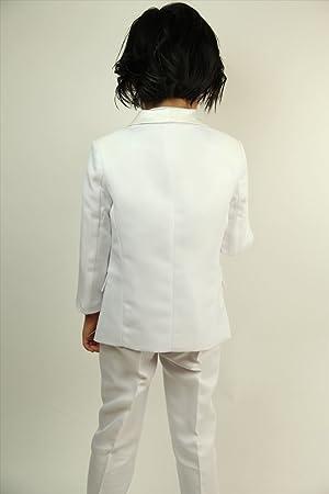 bd3f055272106 メンズフォーマル専門店が独自で企画・製作した子供タキシード□2色(黒・白);4点セット(ジャケット、パンツ、カマーバンド、蝶タイ)