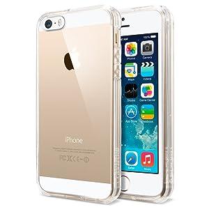 【Spigen】 iPhone SE ケース, ウルトラ・ハイブリッド [ 米軍MIL規格取得 落下 衝撃 吸収 ] アイフォン 5se / 5s / 5 用 (クリスタル・クリア【SGP10640】)