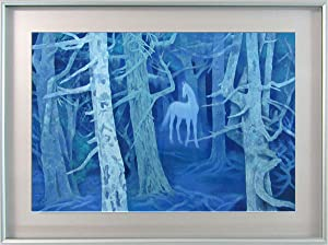 Amazon 東山魁夷『白馬の森』彩美版プレミアム 風景画 ウマ 午 幻想的 ...