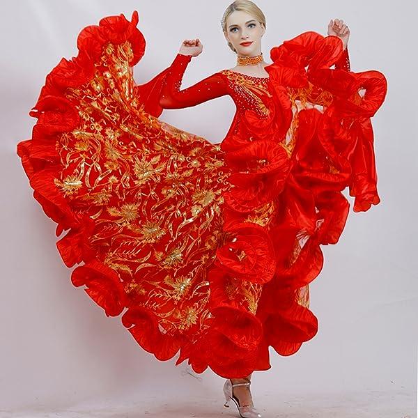 0a846762ea436 タンゴ服 スタンダードドレス 高級 インターナショナルダンス キラキラスパンコール ワンピースドレス 長袖 モダンドレス 社交ダンス ワルツ  Medium パープル Medium