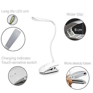 「Mospro LEDデスクスタンド クリップライト タッチパネル機能 三段階調光」の画像検索結果