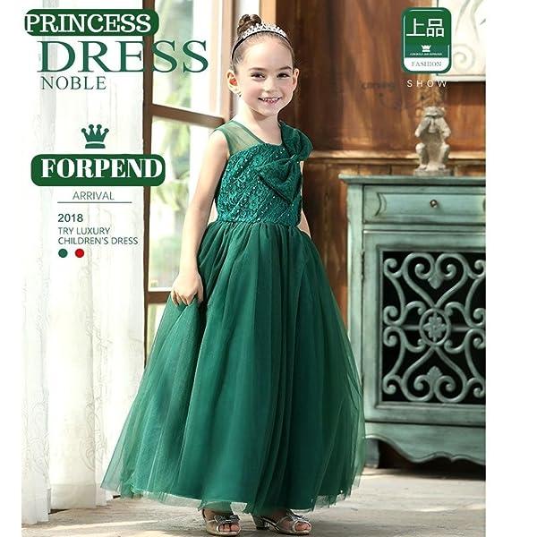 d9ce649c0d7ac Forpendフォーマル プリンセスドレス華やかなキッズドレス、ふんわりボリュームたっぷり上品な子供ドレスです。