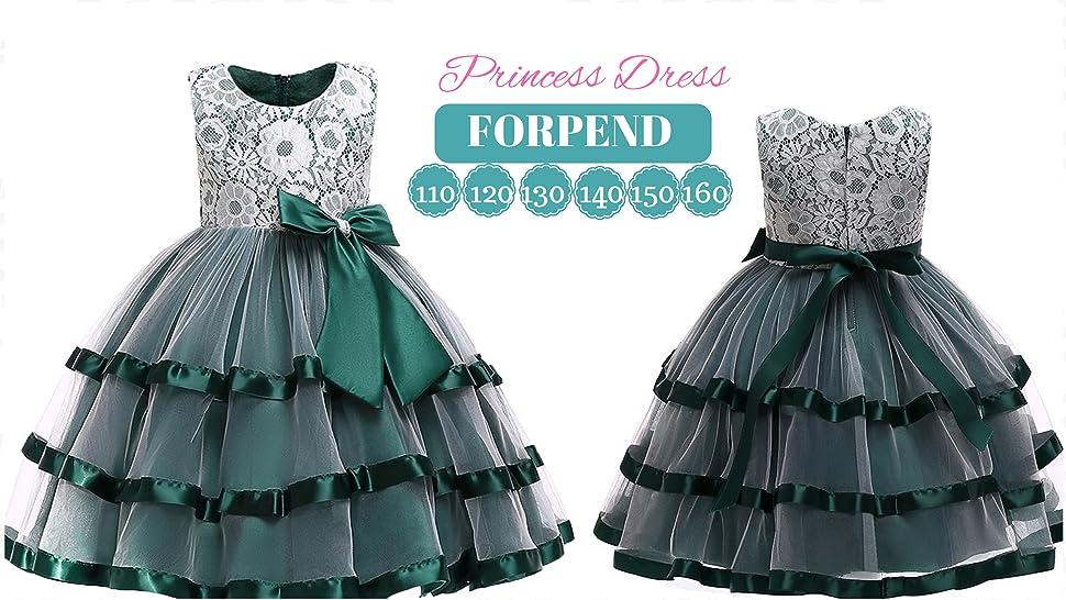 33dbcbf4ddd37 (フォーペンド)Forpend DR69 子どもドレス 女の子 フォーマル 発表会 結婚式 子供服 110 120 130 140 150 160cm オーガンジー  リボン レース ワンピース