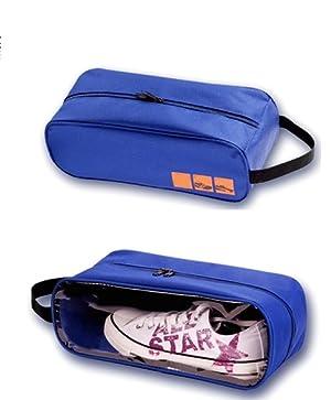運動靴、上履きなどのシューズの持ち運びに便利なシューズポーチ、2個セット。