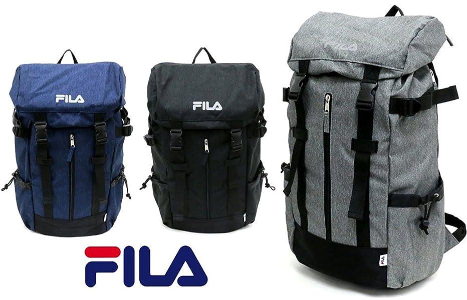 da1552cd3e0b Amazon.co.jp: FILA(フィラ) リュック ブランド ロゴ PC収納 ネイビー ...