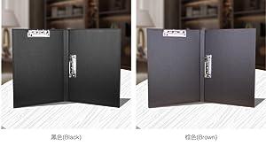 Amazon | クリップボード クリップファイル 二つ折り A4 PUレザー ...