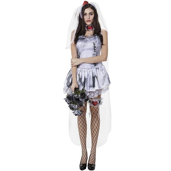 dda3aa4160b ハロウィンコスプレ用の花嫁ゾンビワンピースドレスです。 血まみれ異なるなホラー感が漂う衣装で注目的な花嫁ゾンビです。