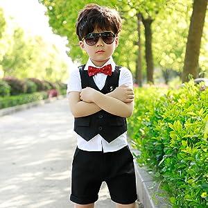 f68e373aa0760 ベビータキシード 3点セット フォーマル スーツ 男の子 ボーイズ フォーマルスーツ キッズ 子供スーツ