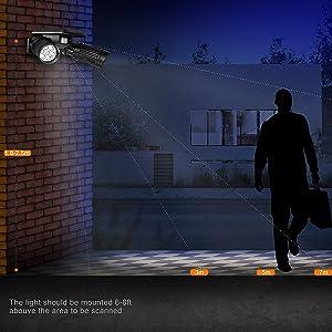 2灯 LEDソーラーセンサーライト 360角度調整可