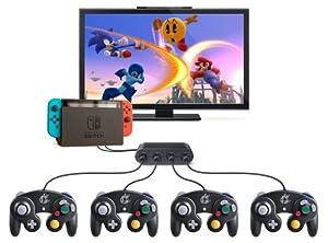 Amazon   GL Wii U用 ゲームキューブコントローラ接続タップ switch ...