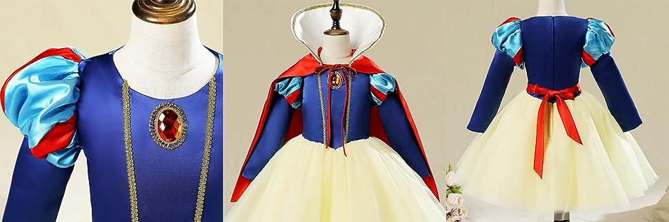 5242f52d0b9a4 お子様向けの白雪姫コスチュームセットです。 肌寒いハロウィンの時期でも着ていただけるよう、長袖の物をご用意いたしました。