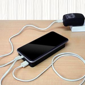 life_mart スマホ用 ファン付きケース 5000mAh バッテリー 内蔵 充電機能付き