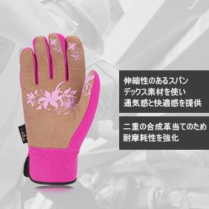 a523c27bbf6a0 商品紹介  甲素材 スパンデックス(spandex)  掌素材 合成革(Synthetic Leather)