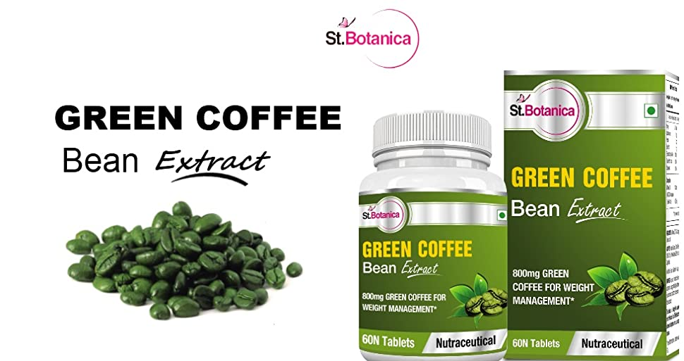 Buy St.Botanica Green Coffee Bean Extract - 800mg - 60 ...