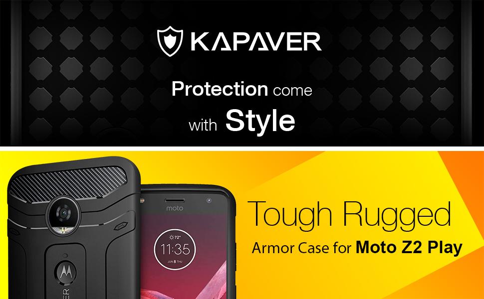 5c44ea7c6 Kapaver Moto Z2 Play Back Cover Case Premium Tough  Amazon.in ...