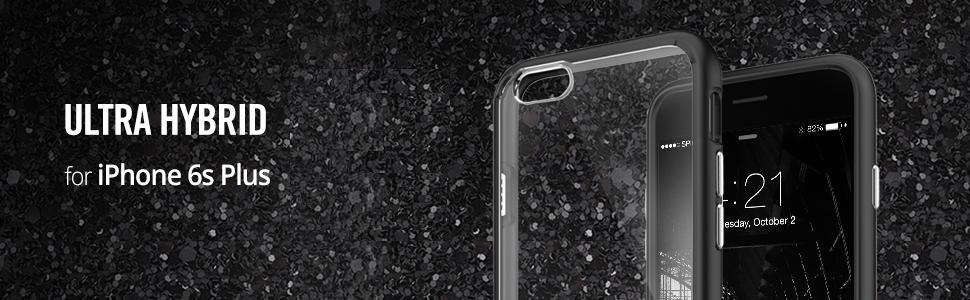 the latest a0bf6 57e01 Spigen Ultra Hybrid Case Designed for iPhone 6S Plus / iPhone 6 Plus -  Black SGP11646