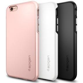 new arrivals 46139 eccdf Spigen Thin Fit Hybrid Case Designed for iPhone 6S / iPhone 6 - Black  SGP11730