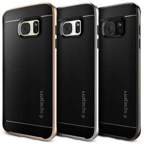 huge discount 44c0c 9cbe9 Spigen Neo Hybrid with Shockproof Hard Frame and Flexible Inner Protection  Designed for Galaxy S7 Edge Case Cover (2016) - Gunmetal