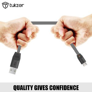 Tukzer Premium Tangle Free 1M Flat Micro USB Cable Fast ...