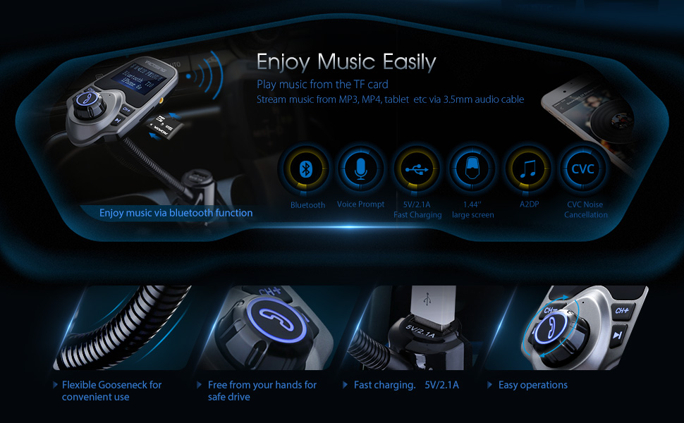 T10 Bluetooth Fm Transmitter Instructions