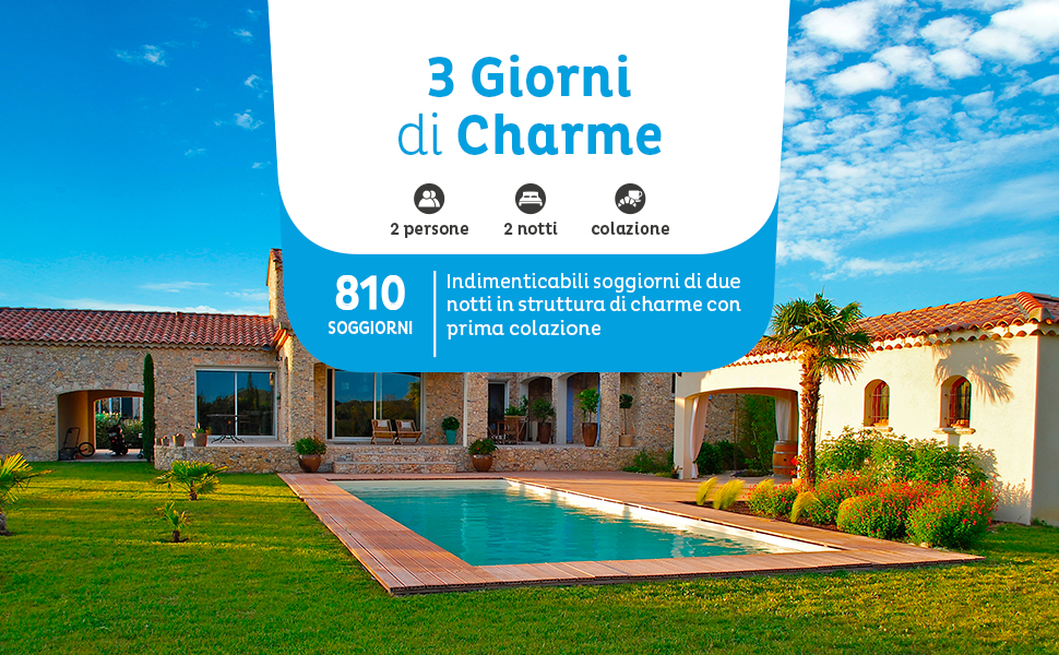 Emozione3 - 3 GIORNI DI CHARME - Cofanetto Regalo ...