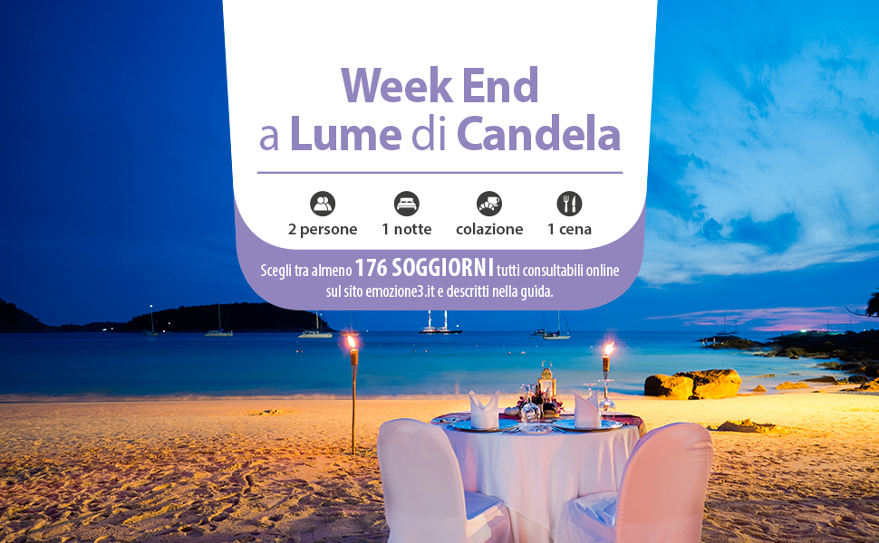 Emozione3 - WEEK ENDA LUME DI CANDELA - Cofanetto Regalo - Soggiorni ...