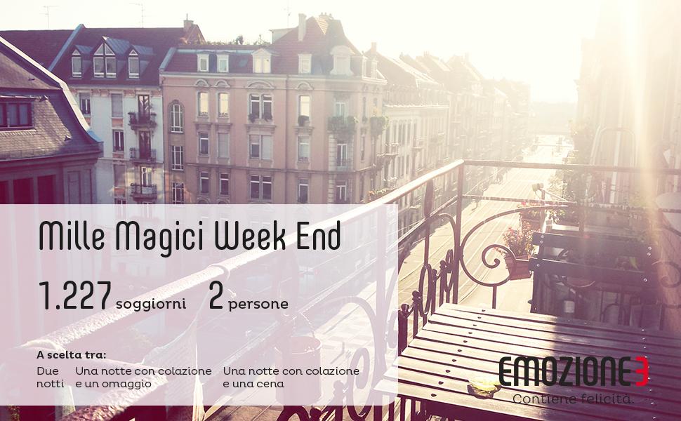 Emozione mille magici week end cofanetto regalo soggiorni