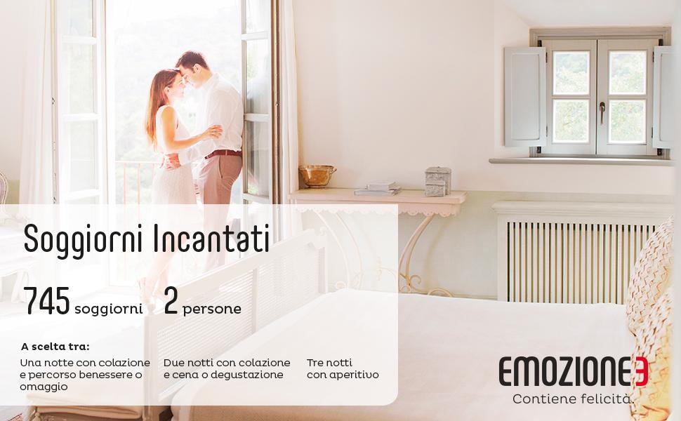 Emozione3 - SOGGIORNI INCANTATI - Cofanetto Regalo - Una, due o tre ...