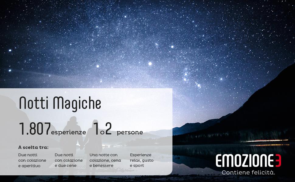 Emozione notti magiche cofanetto regalo soggiorni relax
