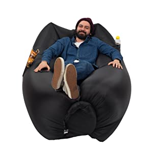 chillax inflatable lounger with carry bag securing stake and bo. Black Bedroom Furniture Sets. Home Design Ideas
