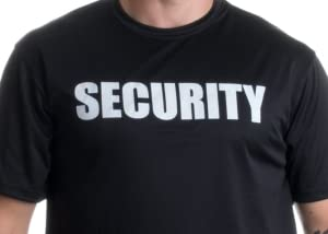 Amazon.com: SECURITY | Event Safety Guard Two Side Print Black w ...