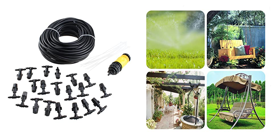 AGPtek 20M 66FT Outdoor Garden Patio Misting Cooling System Is The Best  Patio Misting Kit Of Choice, As It Offers A Perfect Low Cost Solution For  Your ...