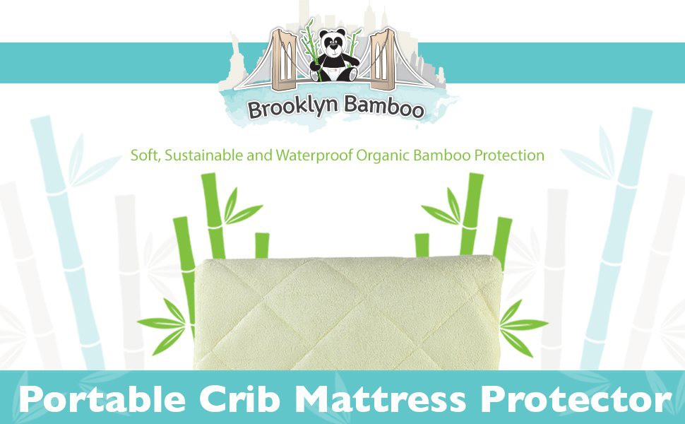 Brooklyn Bamboo Softest Organic #1 Portable Crib Mattress Pad Protector Quilted
