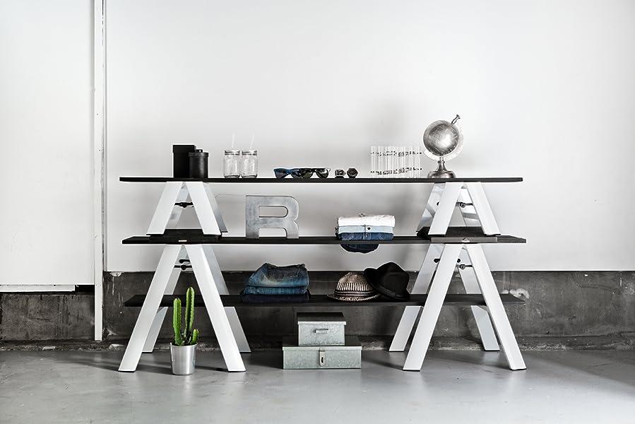 Amazon Com Lucano Step Stool Slim Design 3 Step Black