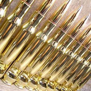 50 caliber bottle breacher bottle opener in polished brass with gift box kitchen. Black Bedroom Furniture Sets. Home Design Ideas
