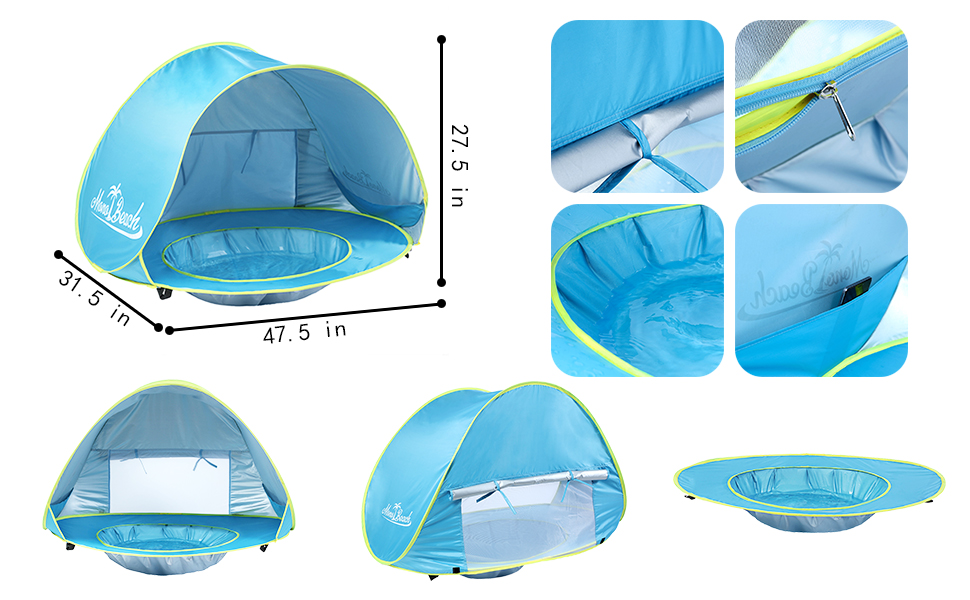 Baby Infant UV Sun Protection Beach Pool ShadeTent Shelter Portable For Kids NEW  sc 1 st  eBay & Baby Infant UV Sun Protection Beach Pool Shade Tent Shelter ...