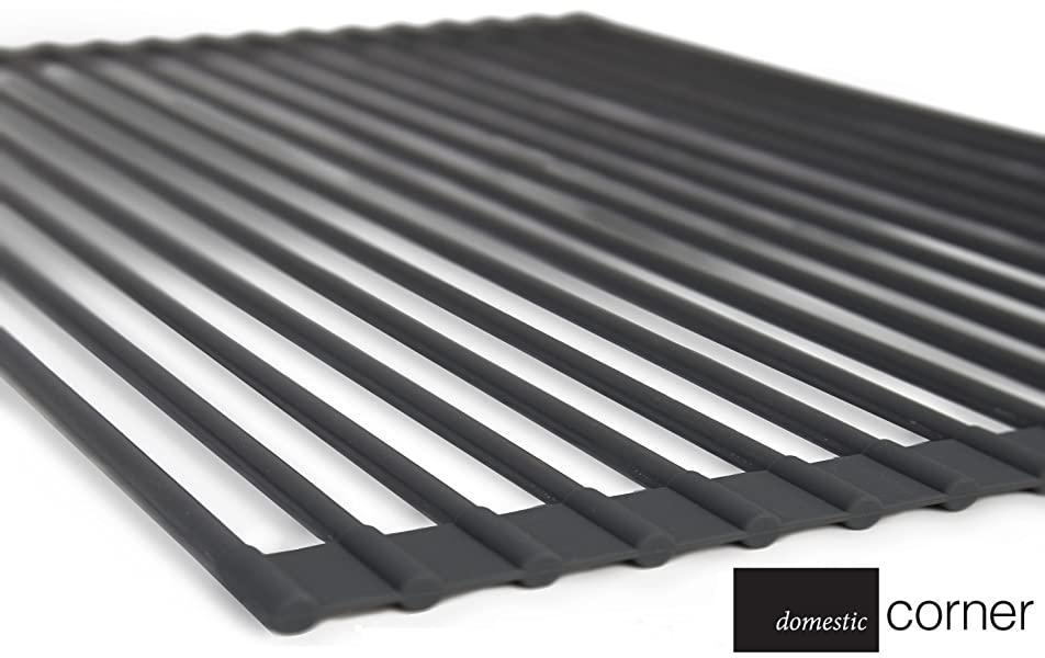 domestic corner dish rack over the sink roll up drying rack dark red. Black Bedroom Furniture Sets. Home Design Ideas