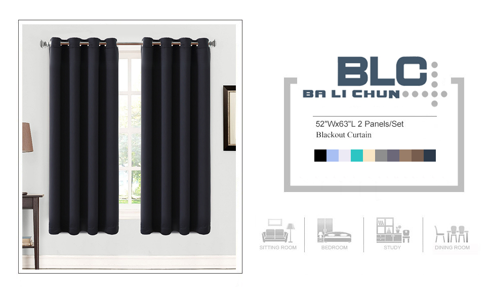 balichun blackout curtain is designed in the same spirit of and elegance that other curtains in current market
