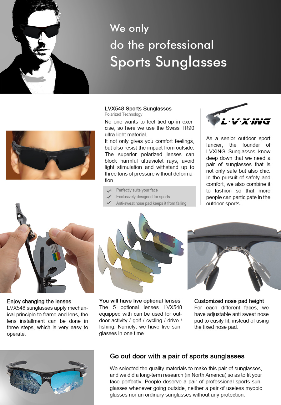 Amazon Sports Sunglasses Lvxing Lvx548 Mens Polarized