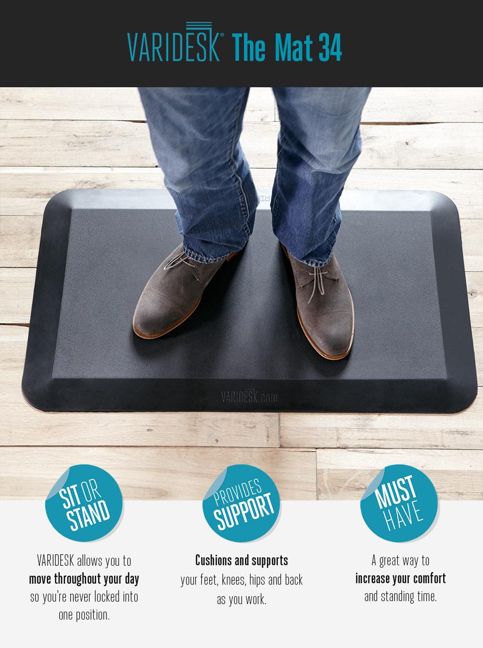 Amazon Com Varidesk Standing Desk Anti Fatigue Comfort