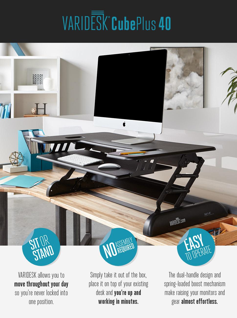 Amazon Com Varidesk Height Adjustable Standing Desk