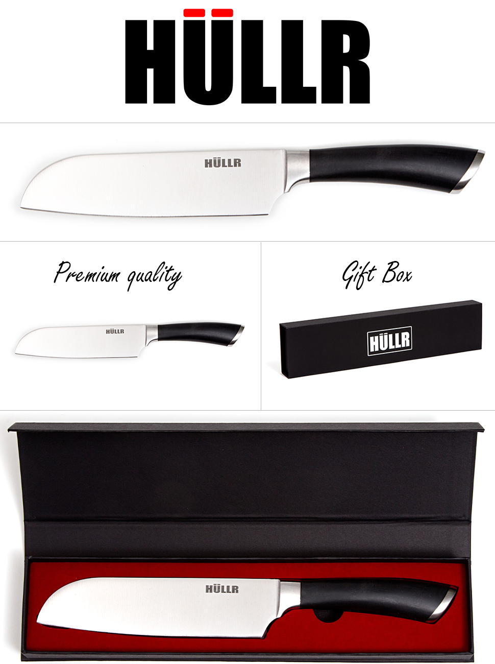 professional chef knife by h llr a multipurpose kitchen tool of german design in a. Black Bedroom Furniture Sets. Home Design Ideas