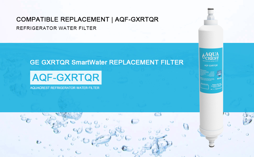 3 pack aquacrest ge gxrtqr gxrtdr samsung da29 10105j water filter replacement for Ge exterior refrigerator icemaker filter gxrtqr