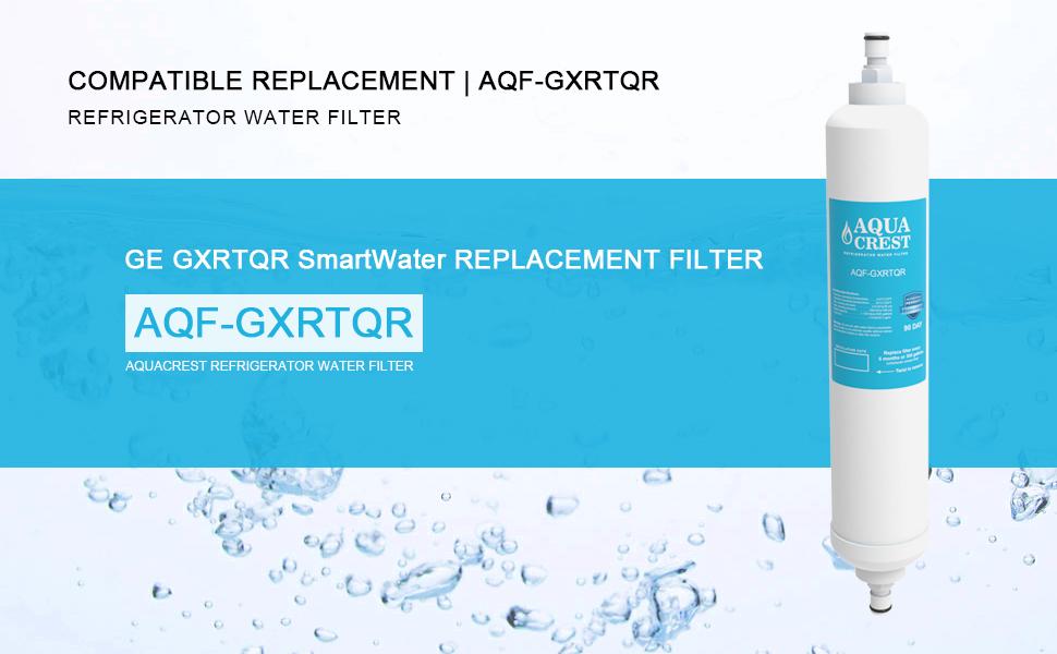 2 pack aquacrest ge gxrtqr under sink water filter replacement ebay. Black Bedroom Furniture Sets. Home Design Ideas